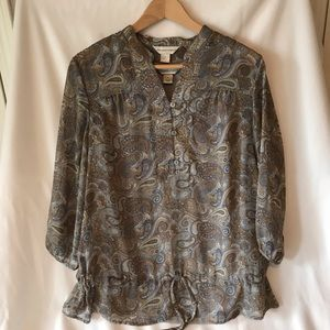 CB Paisley Blouse with Built-in Tank